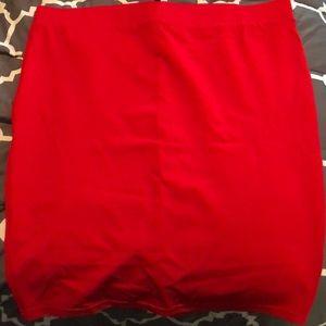 Torrid Red Ponte Skirt